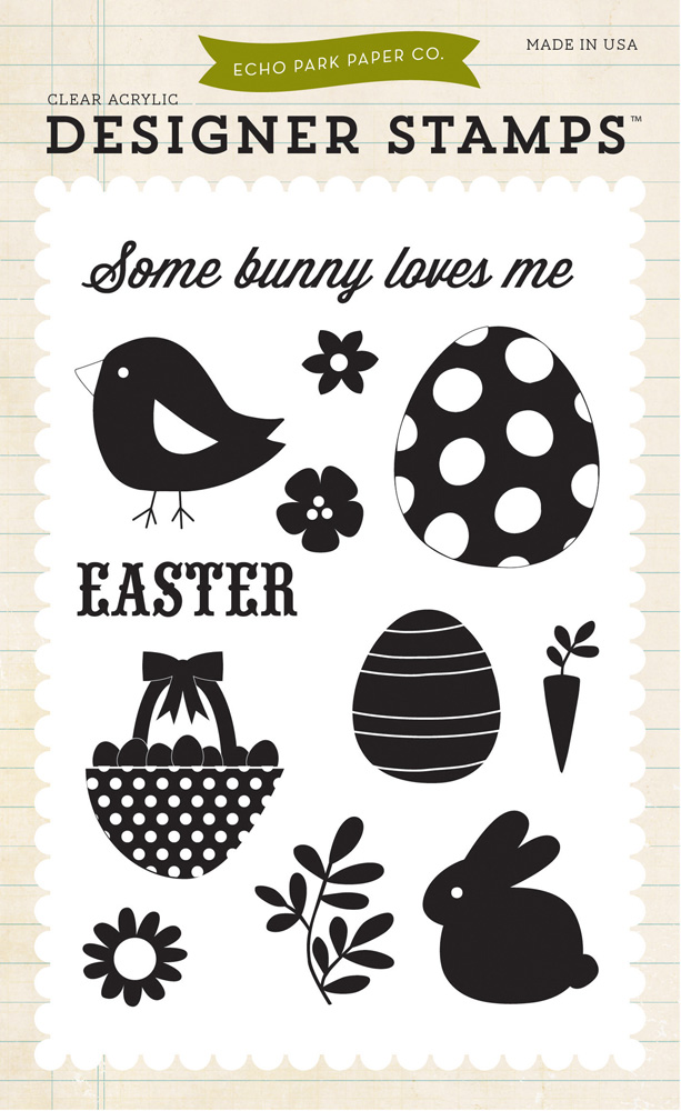 HE83032 Some Bunny Loves Me 4X6 Stamp
