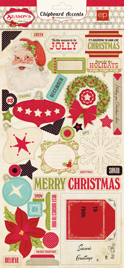 SEASON'S GREETINGS CHIPBOARD