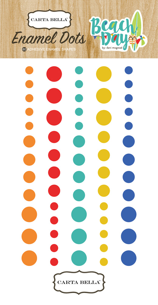 CBBD54028 Beach Day Enamel Dots