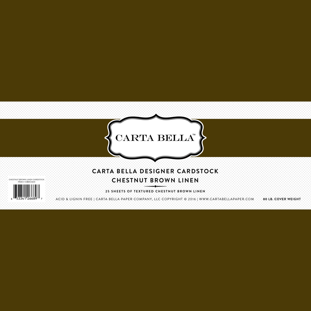 Chestnut Brown Linen Cardstock 80lb. Cover