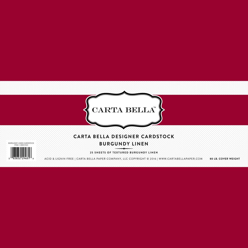 Designer cardstock echo park paper co burgundy linen cardstock 80lb cover reheart Gallery