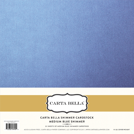CBDSC1001 Medium Blue Shimmer Cardstock