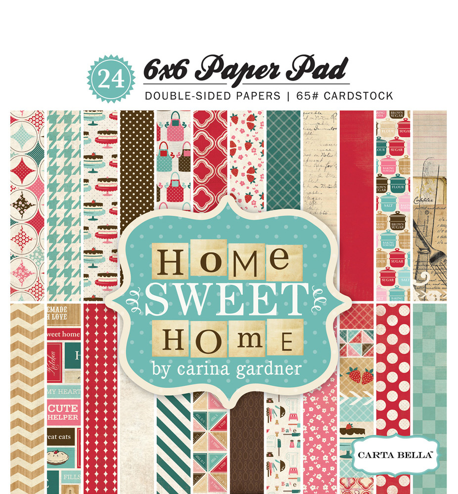 CBHSH47015 Home Sweet Home 6x6 PaperPad Cover