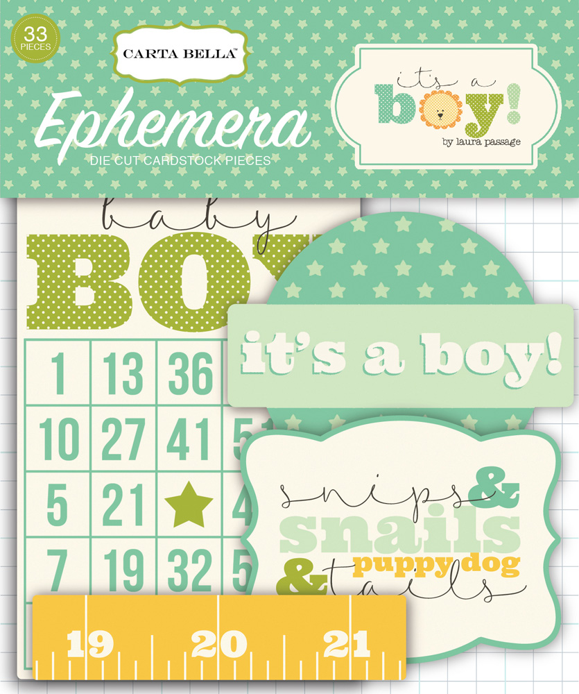 CBIB50024 Its A Boy Ephemera
