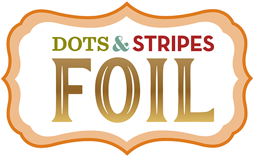 Dots Stripes Foil Gold