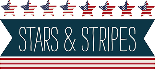 Stars and Stripes scrapbook paper