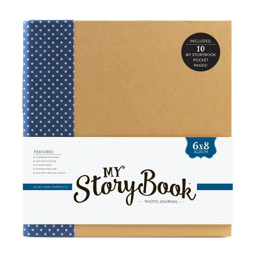 My storybook products echo park paper co msba0002 6x8 photo journal navy dot publicscrutiny Image collections
